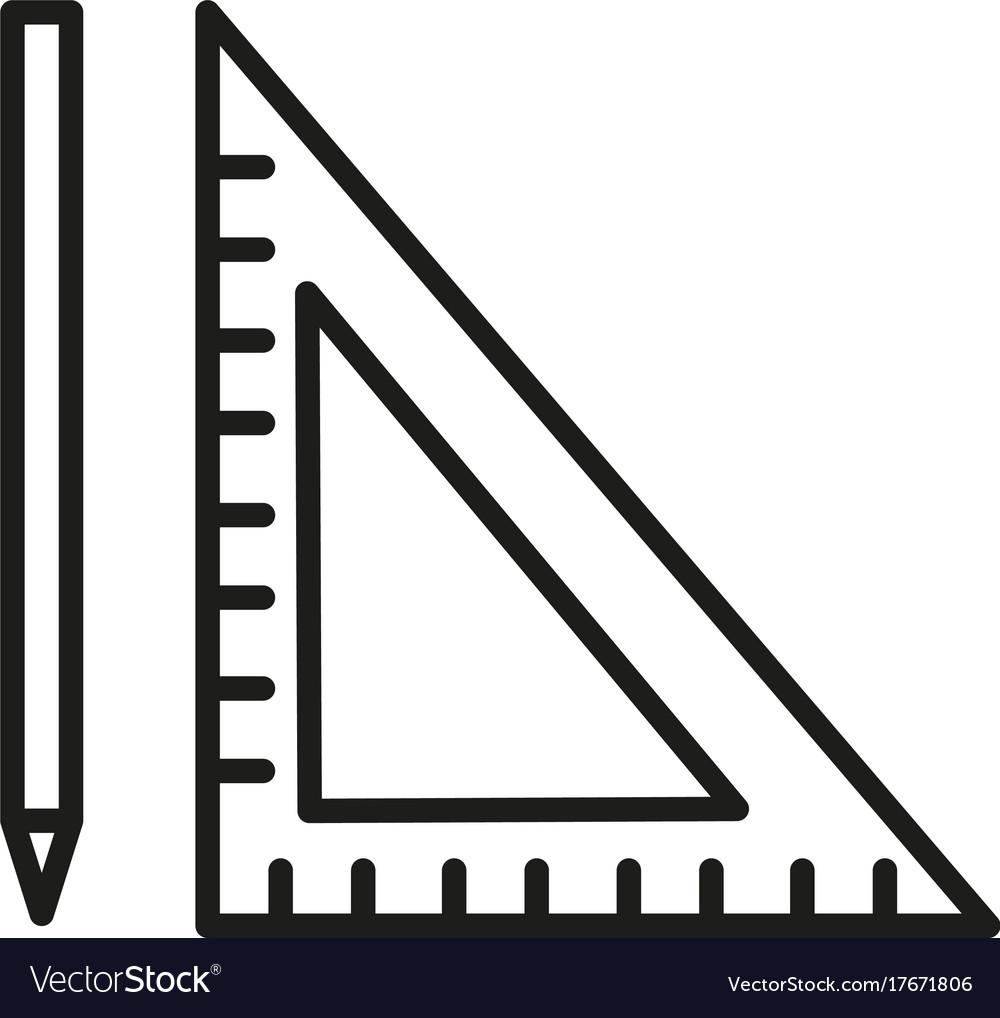 pen ruler icon royalty free vector image vectorstock rh vectorstock com ruler vector free ruler vector freepik