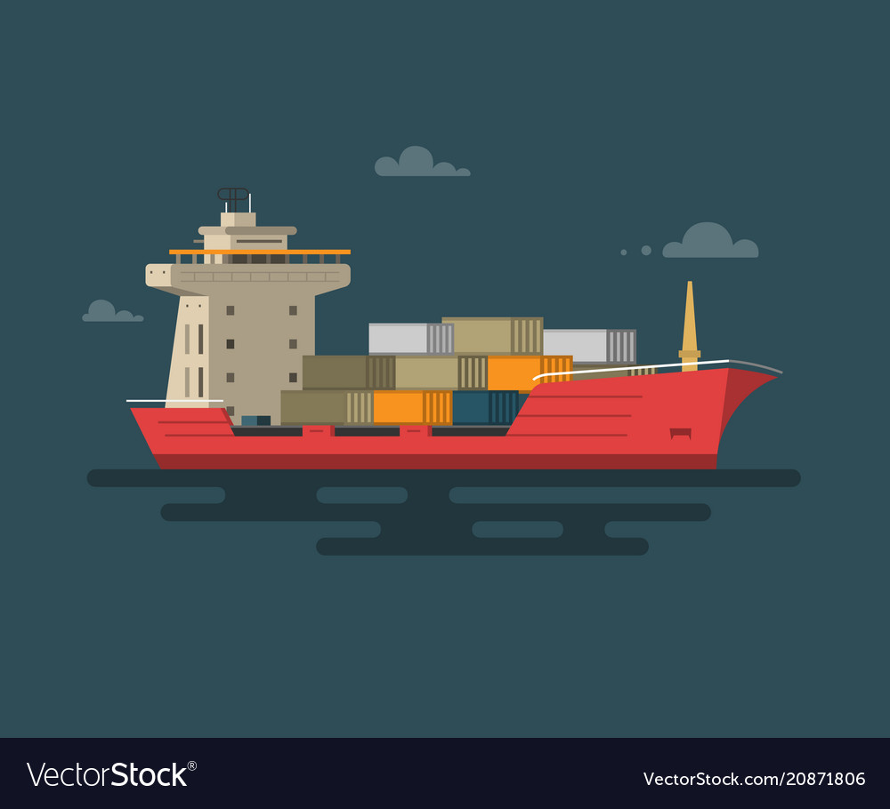 Ship container in the ocean transportation