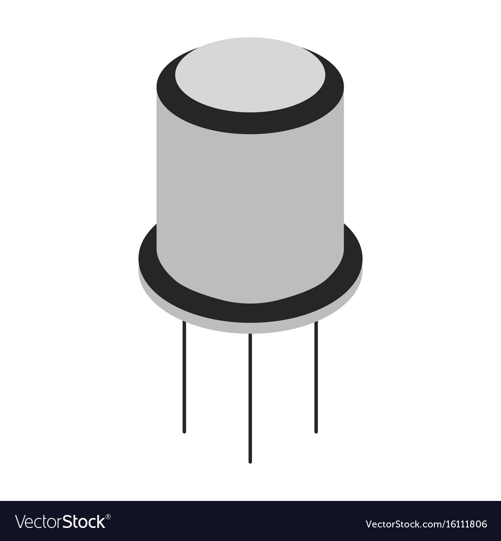Transistor cartoon icon vector image