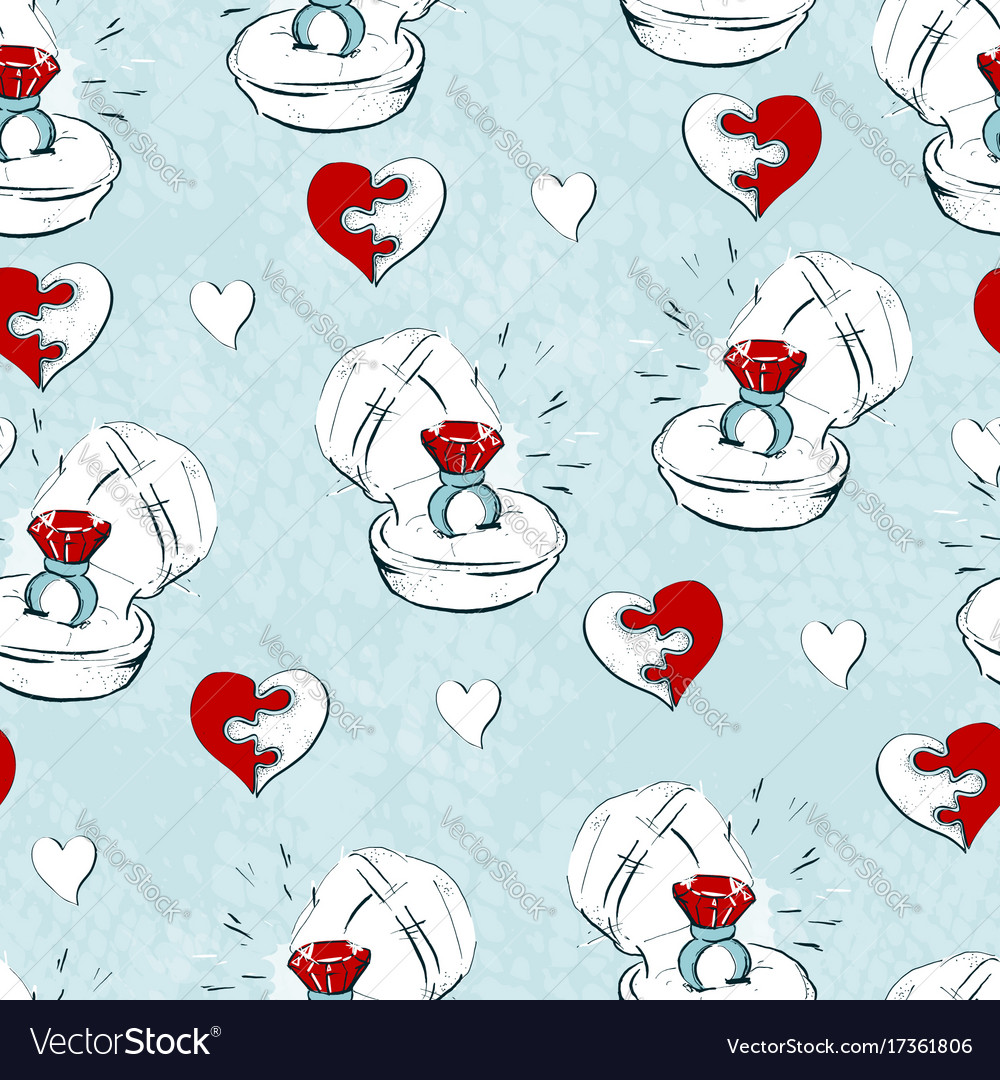 Wedding seamless pattern with line icons on white