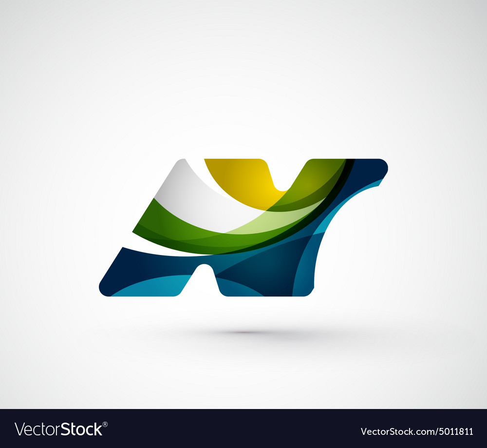 Abstract geometric company logo N letter