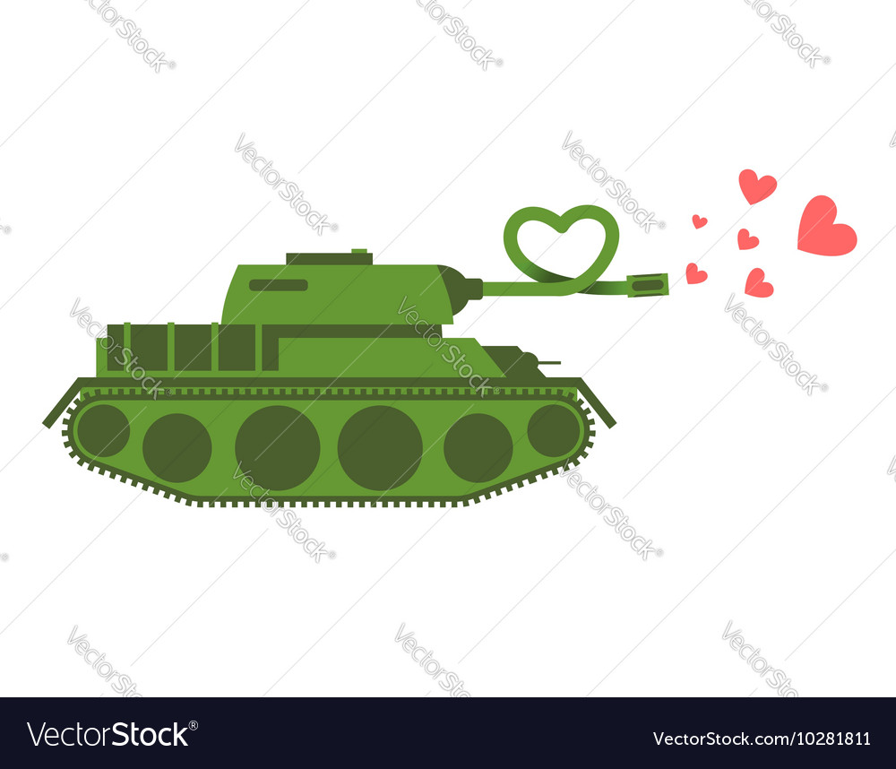 Army Tank love Green shoots military machine