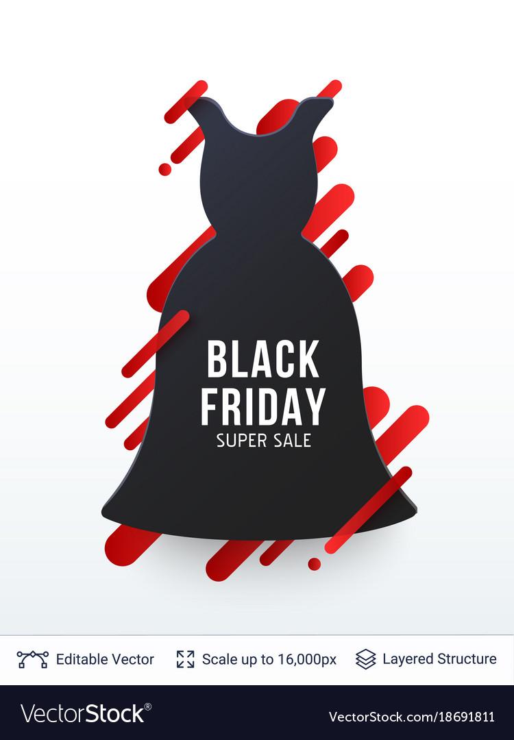 Black Friday Clothing Fashion Sale Royalty Free Vector Image