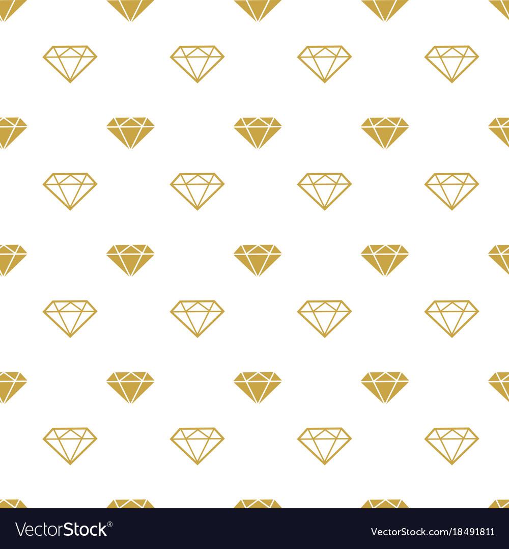 diamonds seamless pattern girly background vector image