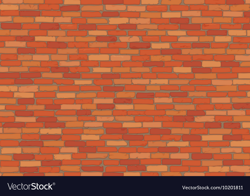 Elegant realistic red brick wall background