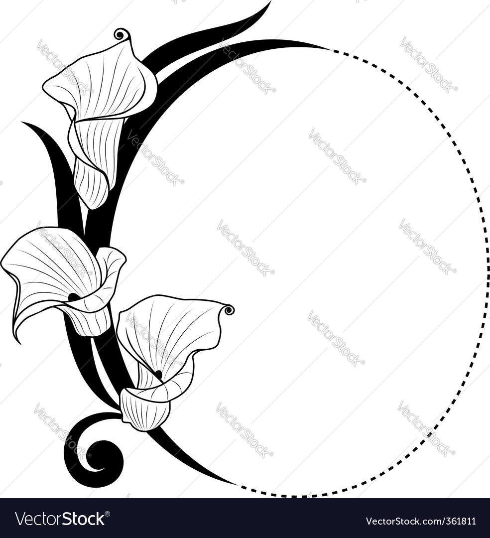 floral boarder royalty free vector image vectorstock