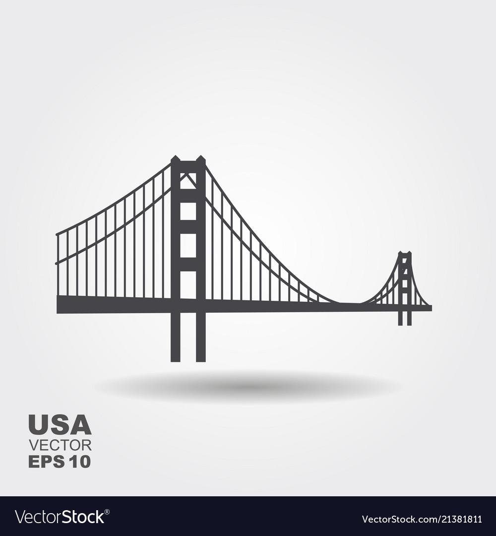 Golden gate bridge icon