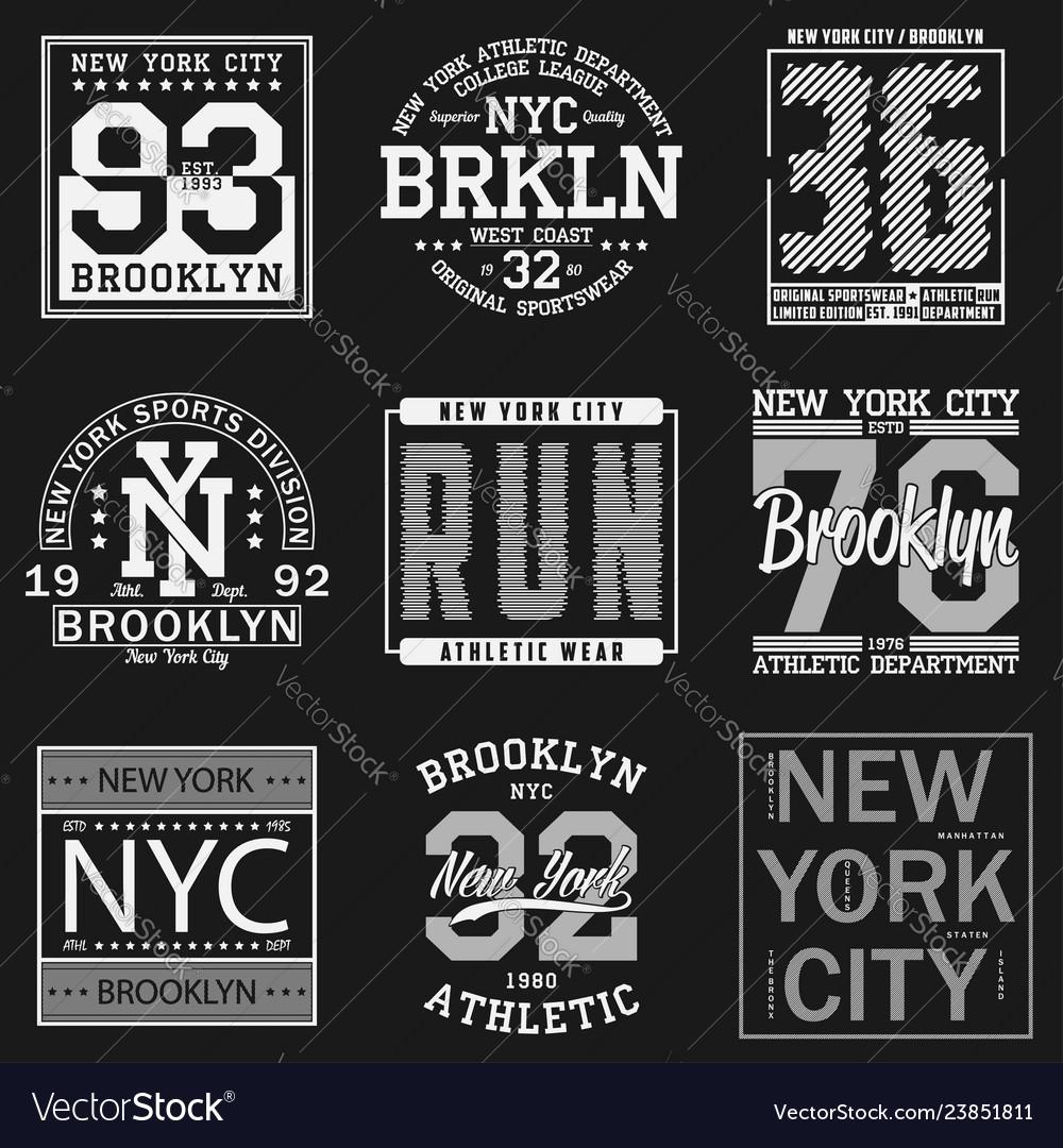 New york sport t-shirt set2