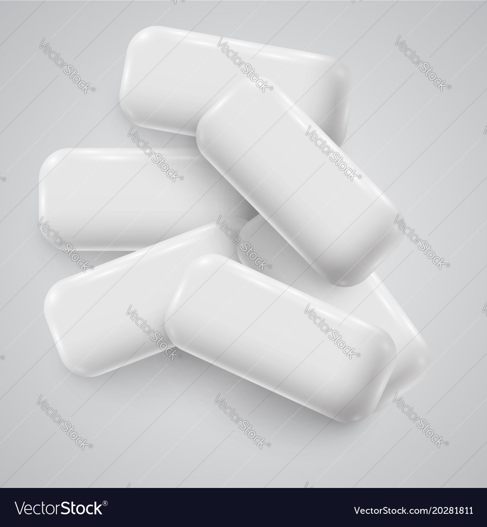 Realistic chewing gum vector image