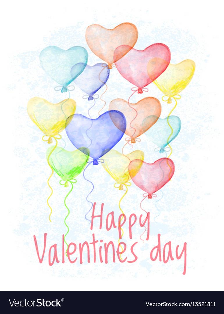 Saint valentine s day hand drawn card