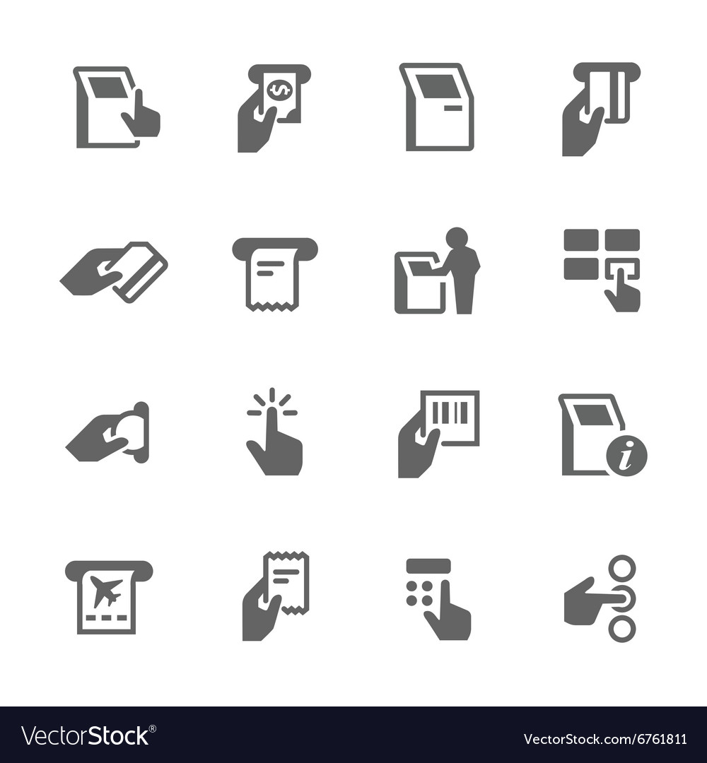 Simple Kiosk Terminal Icons vector image