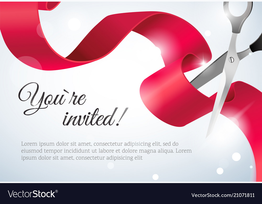 You are invited invitation card grand opening vector image on vectorstock stopboris Gallery