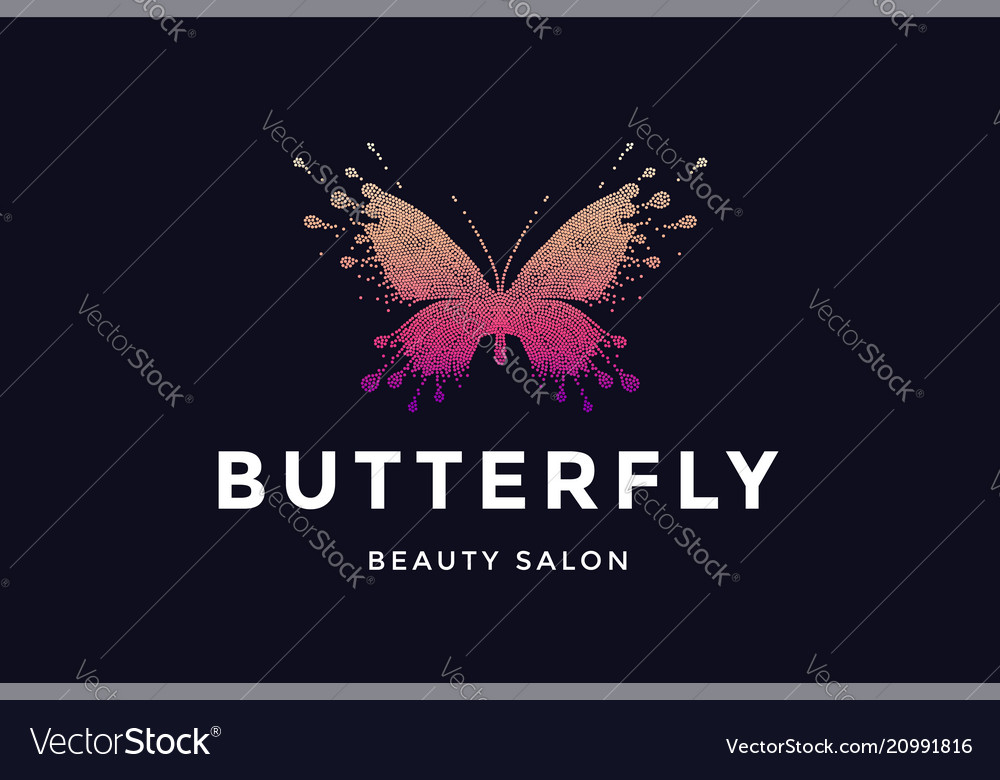 Butterfly logo for beauty salon