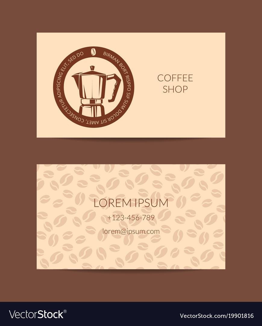 Coffee shop or company business card royalty free vector coffee shop or company business card vector image colourmoves