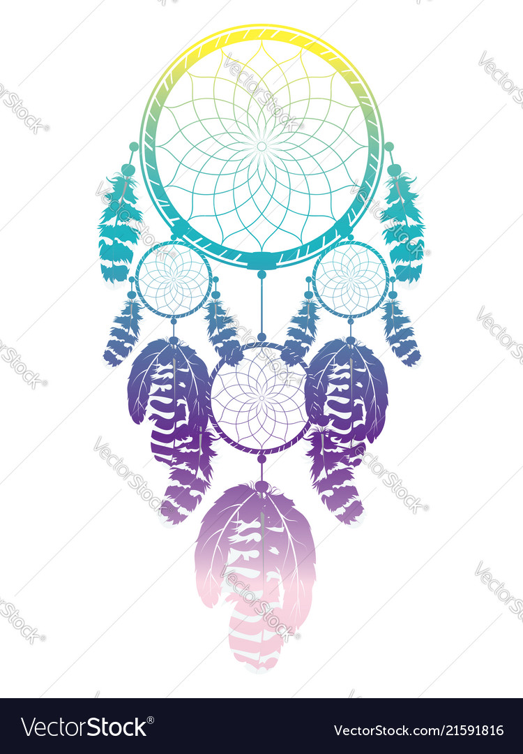 - Colorful Dreamcatcher Design Royalty Free Vector Image
