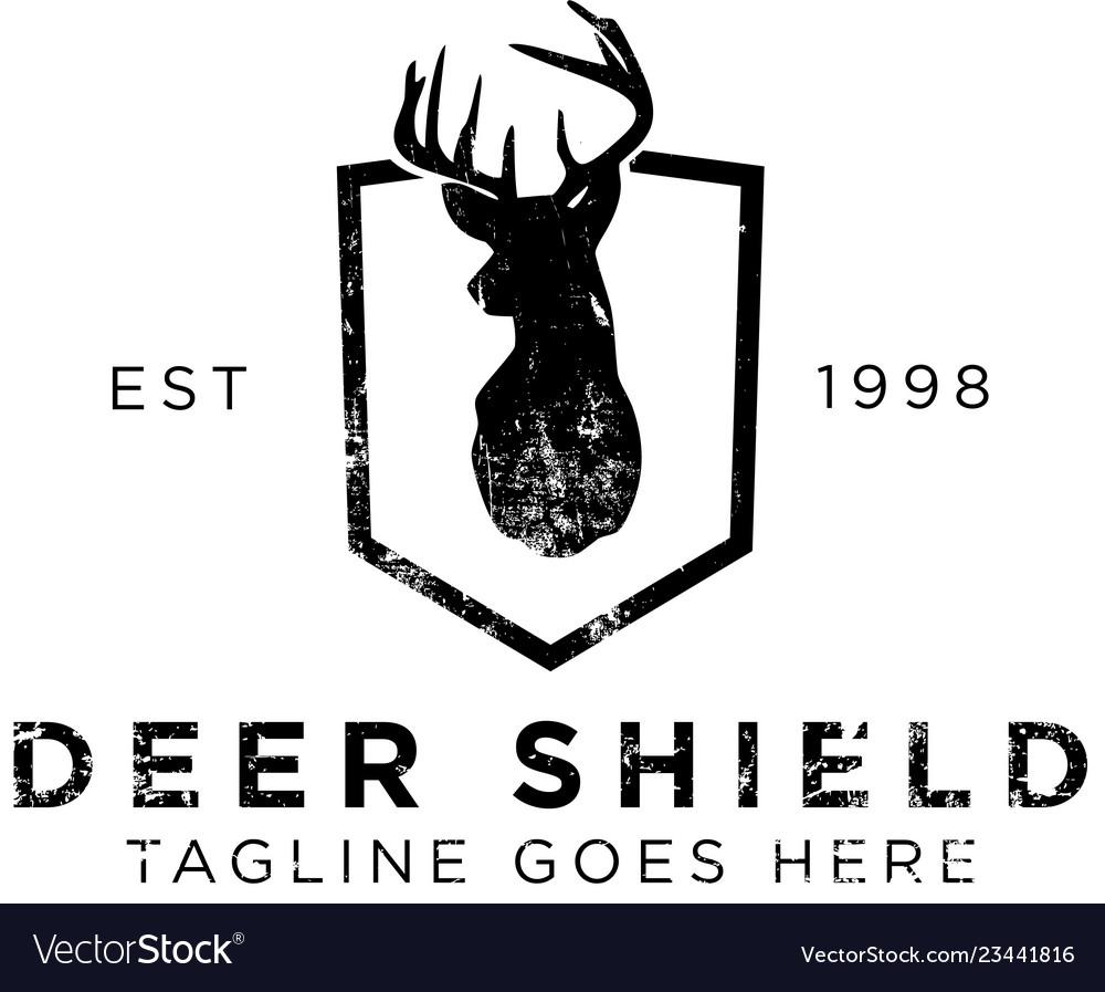 Deer shield logo design inspiration