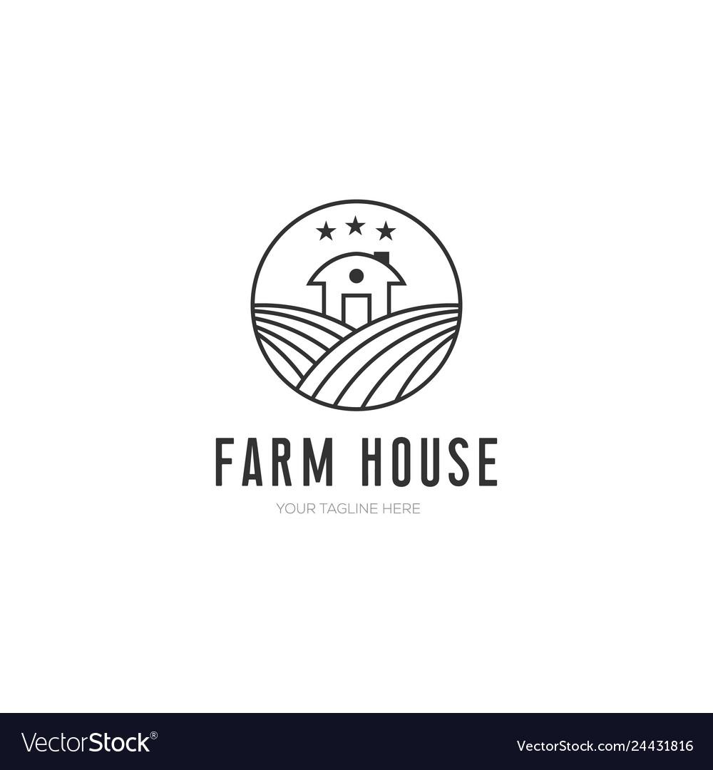 Farm house minimalist design with line art style