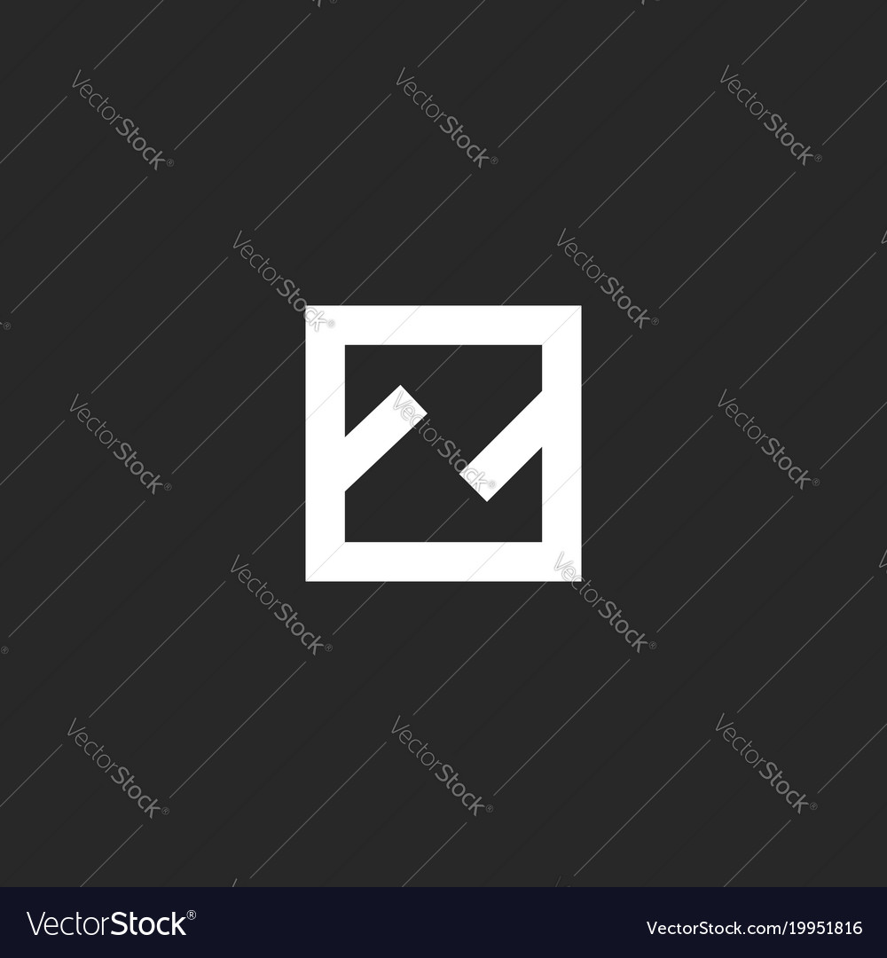 Letter Z Logo Monogram Minimal Style Simple Vector Image On VectorStock