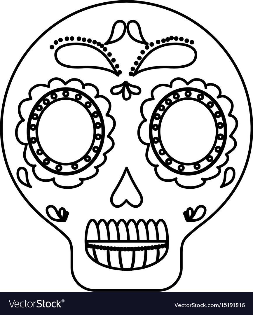 Mexican skull icon