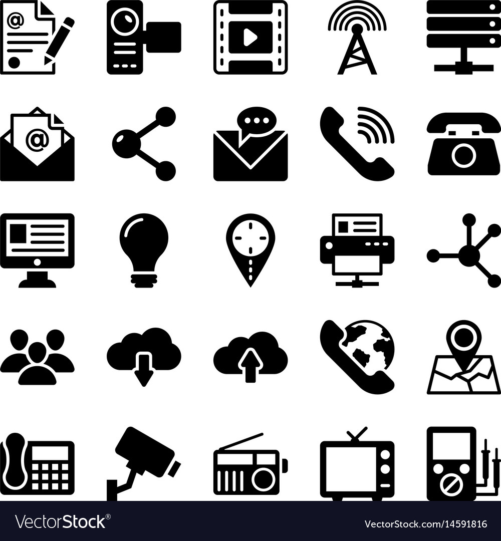 Network and communication icons 4