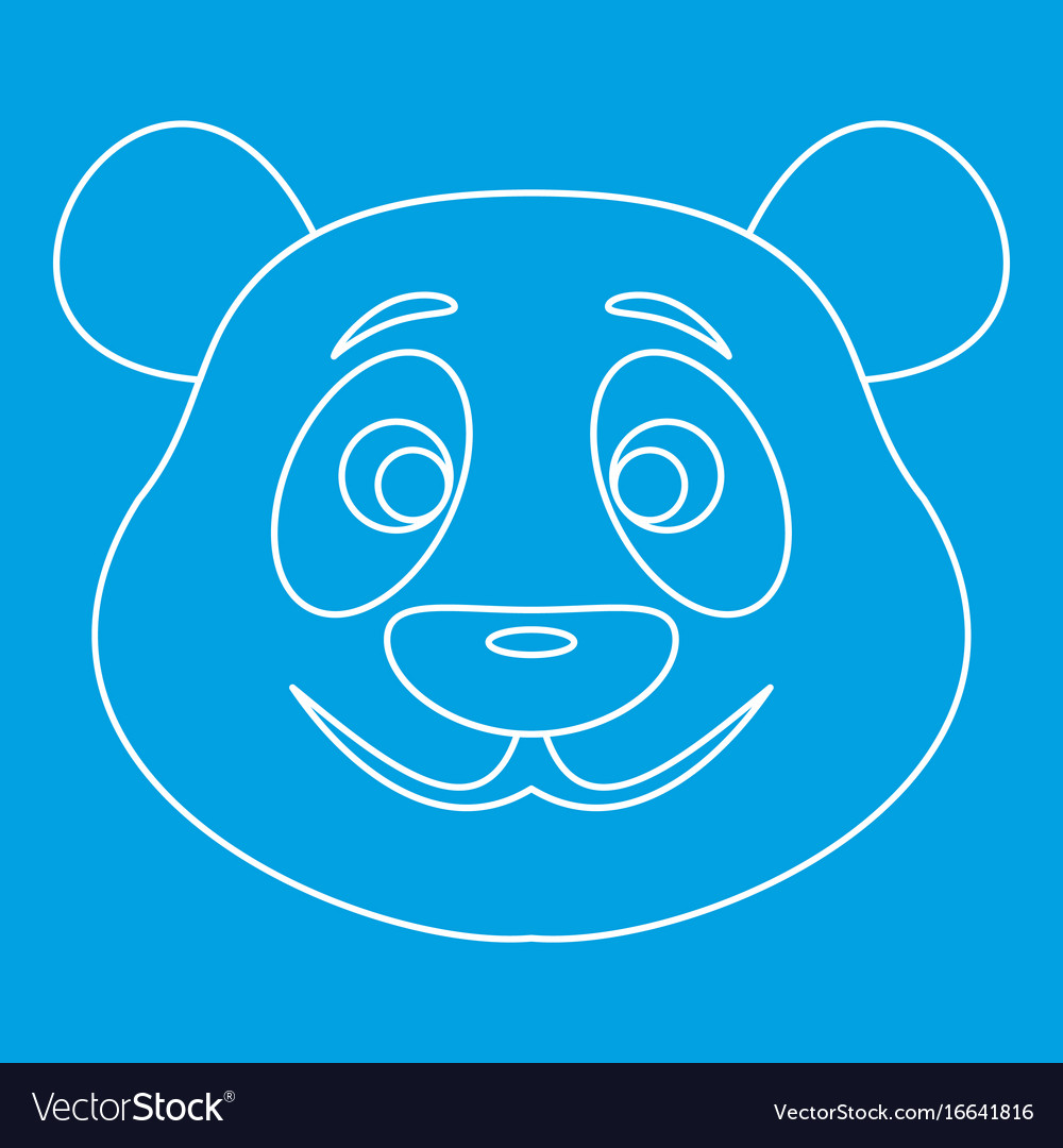 Panda bear icon outline style