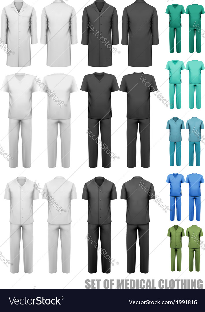 Set Of Medical Clothes Design Template Vector Image
