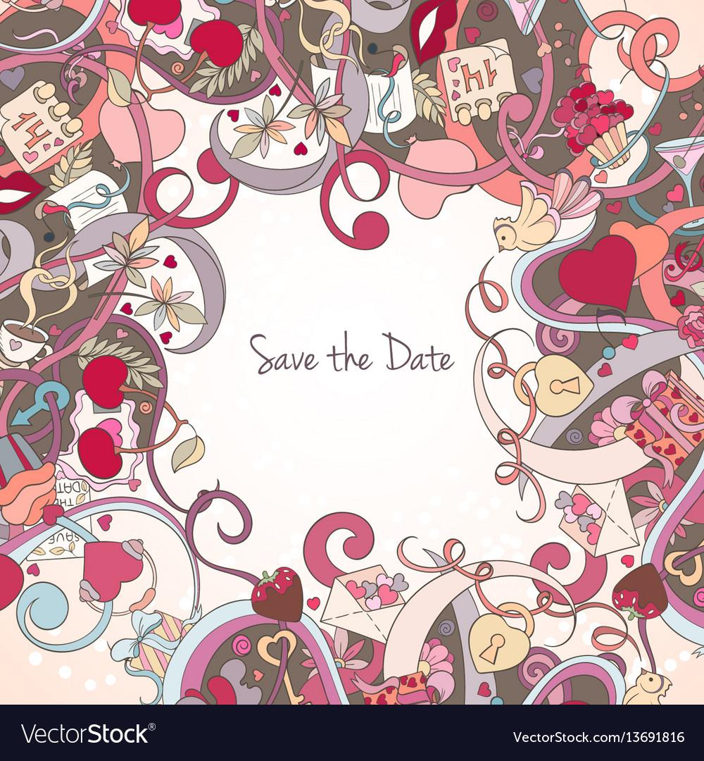 St valentine day card