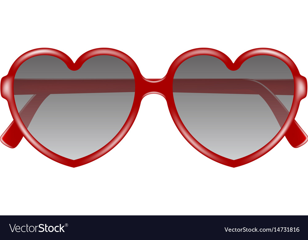 Sun glasses in shape of heart vector image