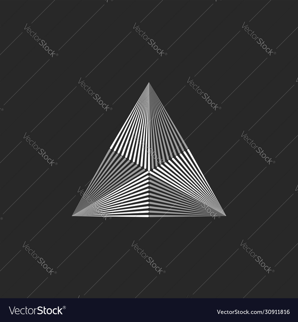 Triangle logo geometric shape thin lines hipster