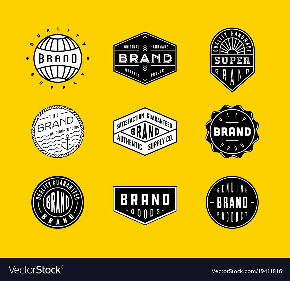 Vintage logo badges 2 vector image