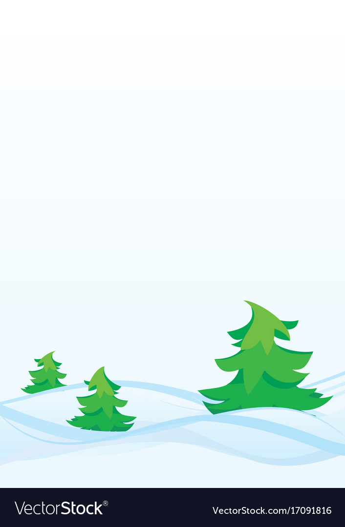 Winter firs vector image
