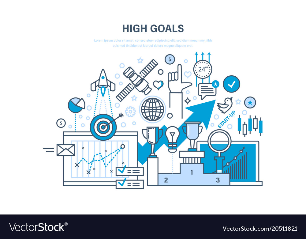 Achievement of high goals self-improvement