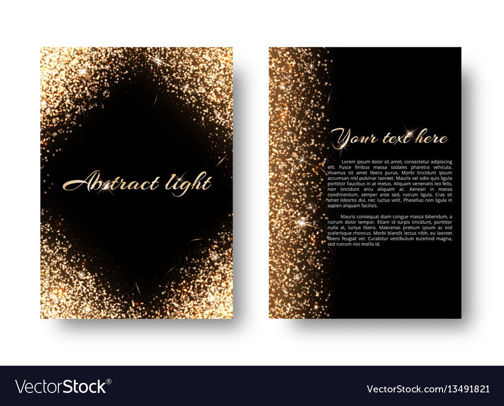 Bling background with light effect vector image
