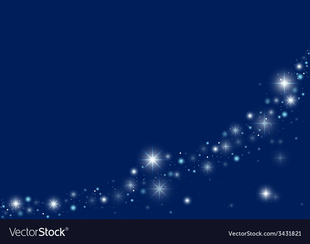 blue starry christmas background vector image - Starry Christmas