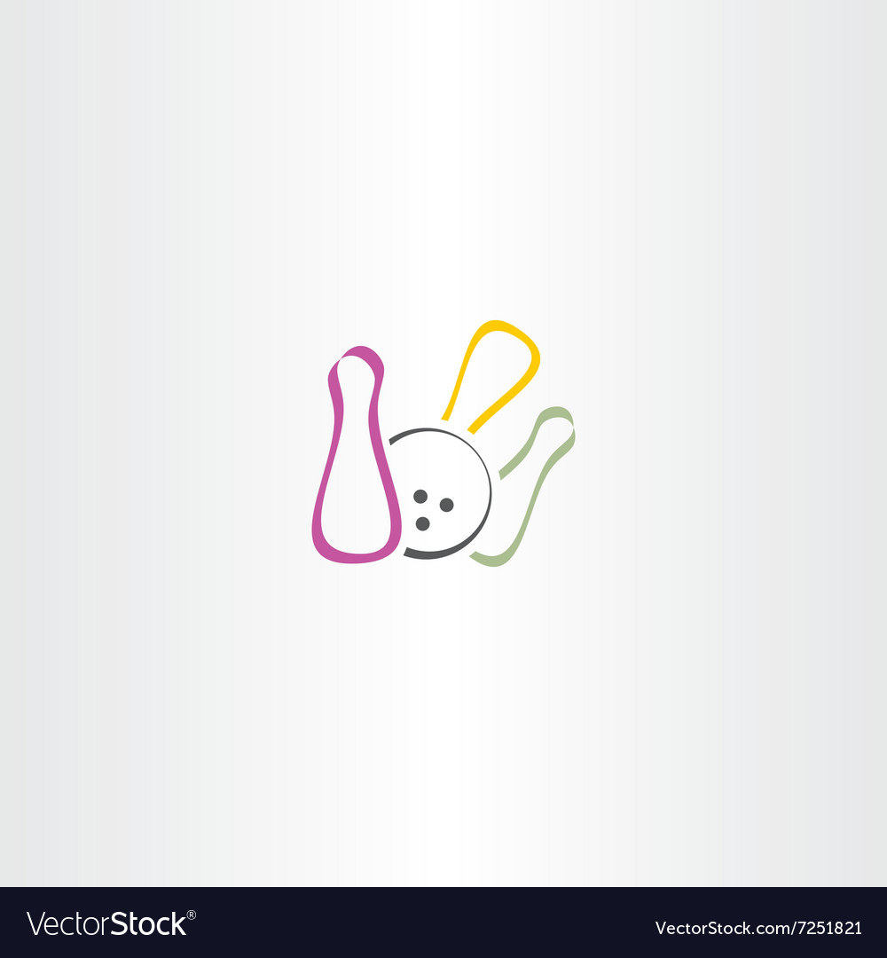 Bowling logo icon symbol vector image