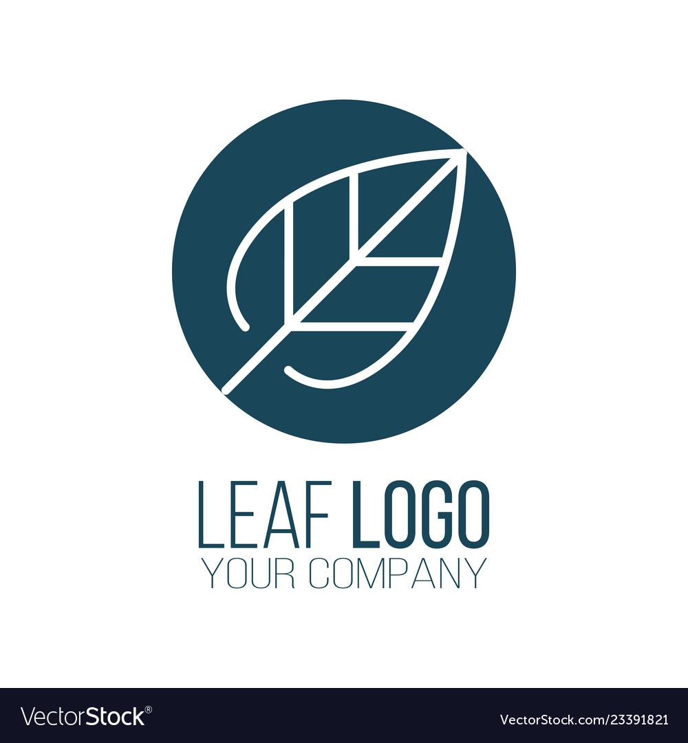 Circle leaf logo icon design landscape design