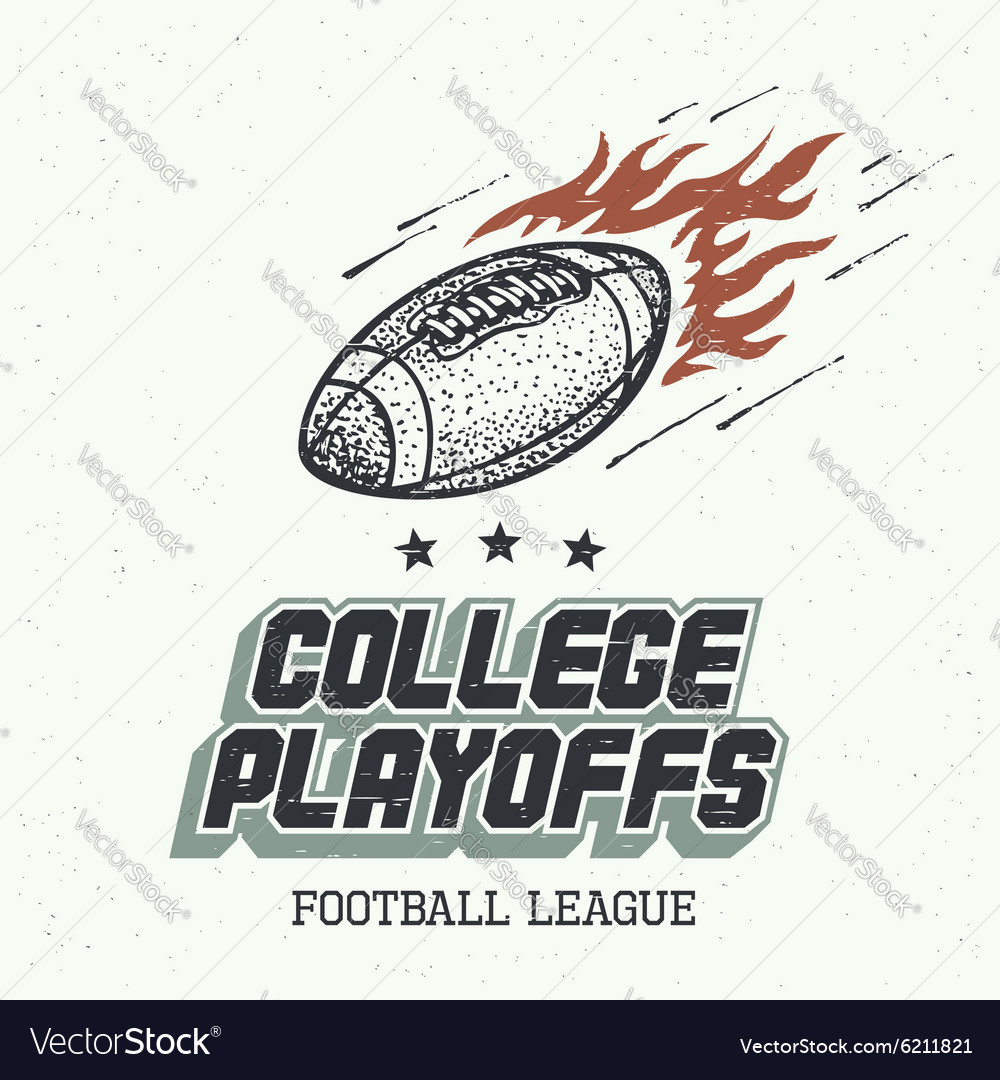 College playoffs hand-drawn