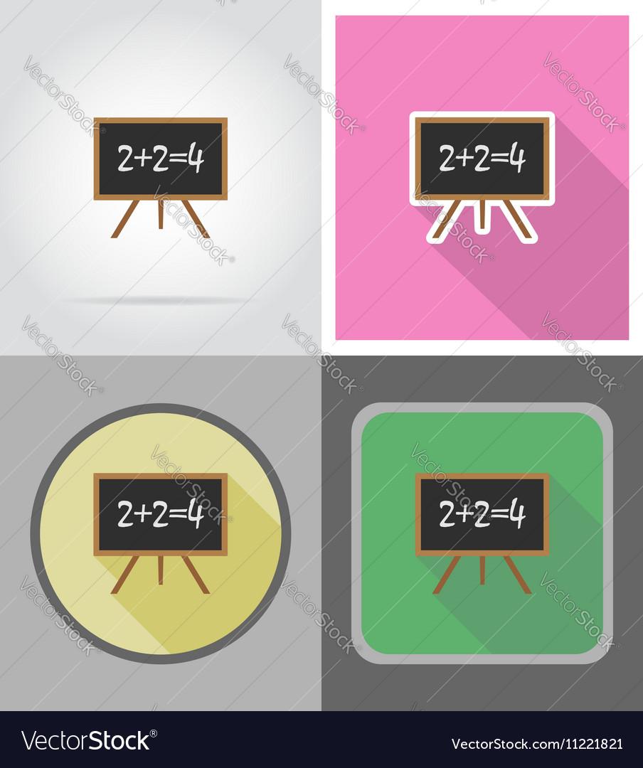 School education flat icons 05 vector image