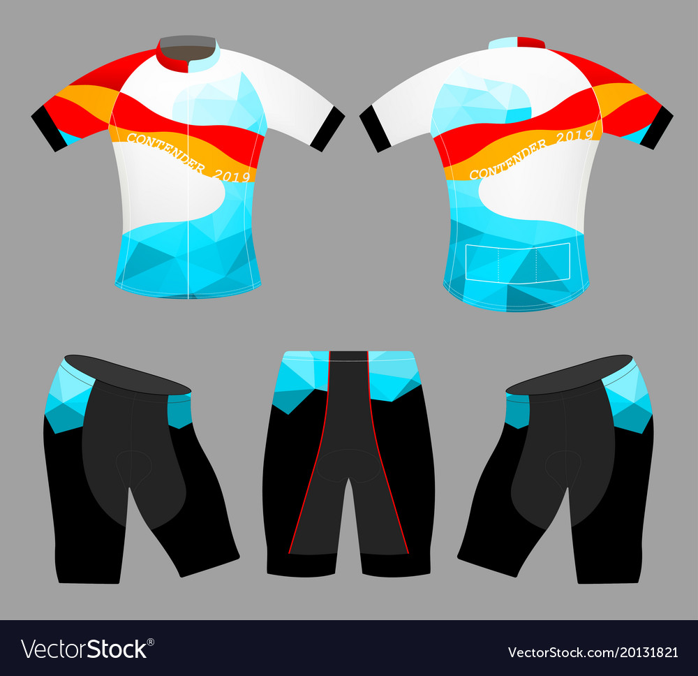 Sports low poly colors t-shirt vector image