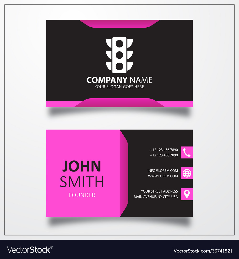 Traffic light icon business card template