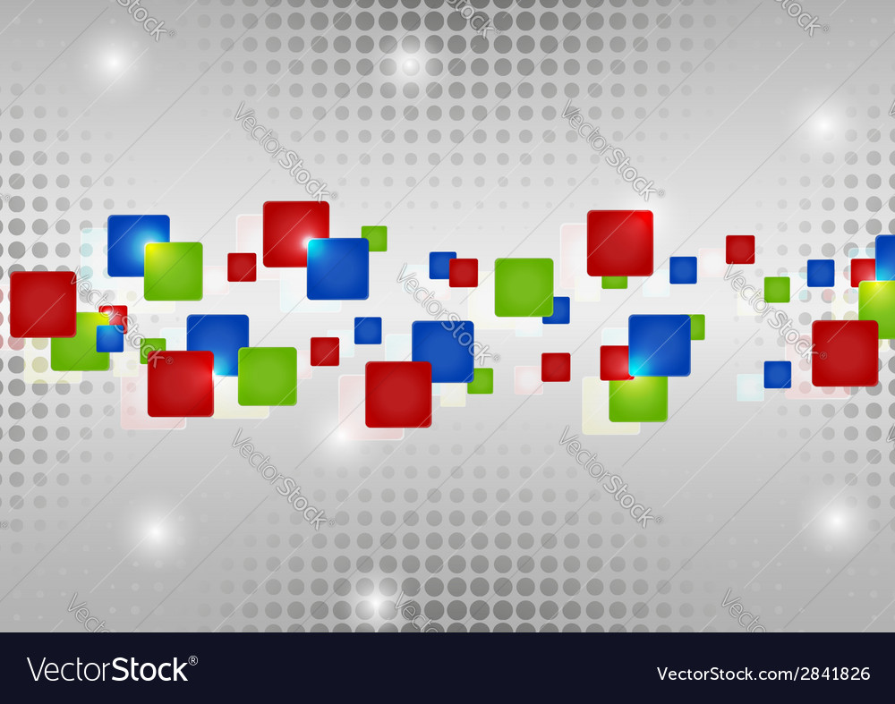 Abstract red blue green rectangles vector image