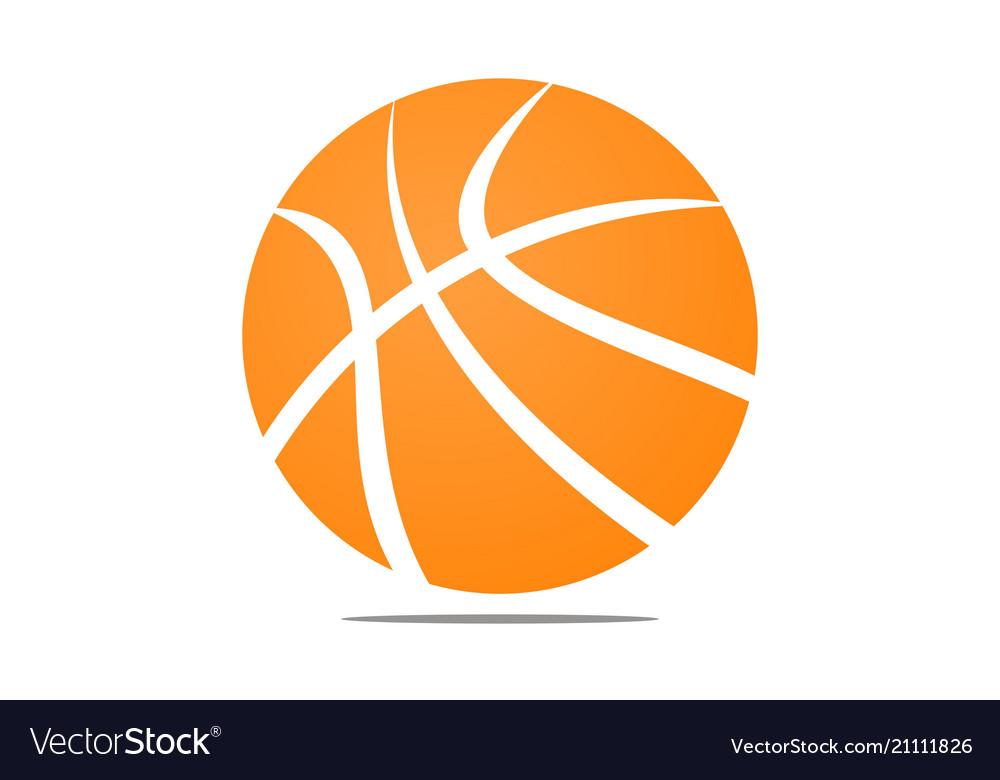 Basket ball logo design template
