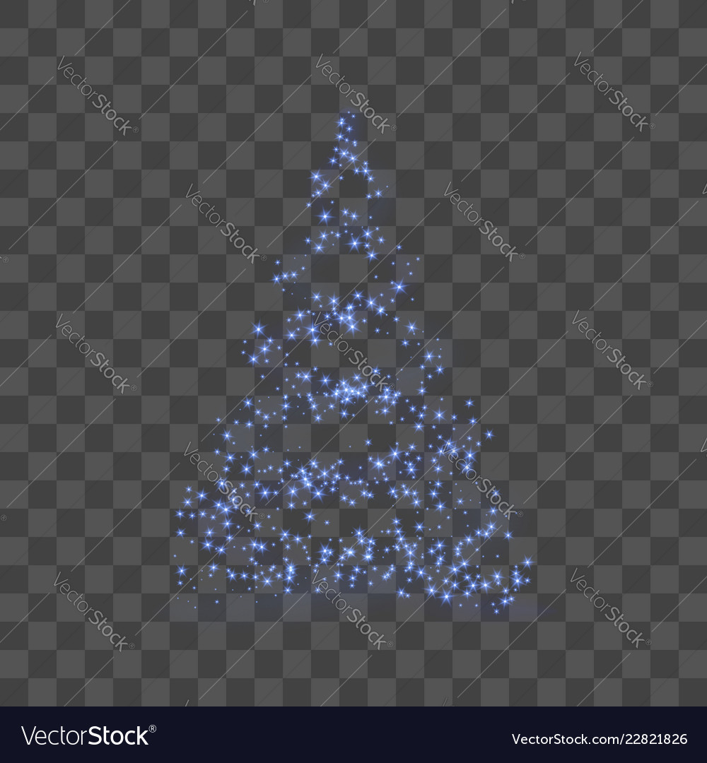 Christmas tree happy new year background