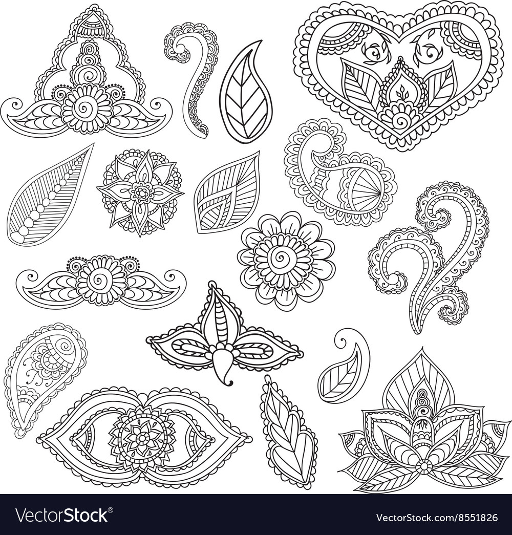 Rar Descargar Coloring Pages For Adults Henna Mehndi Doodles