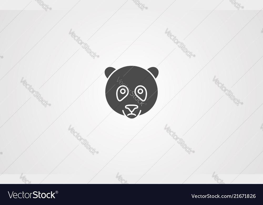 Panda icno sign symbol