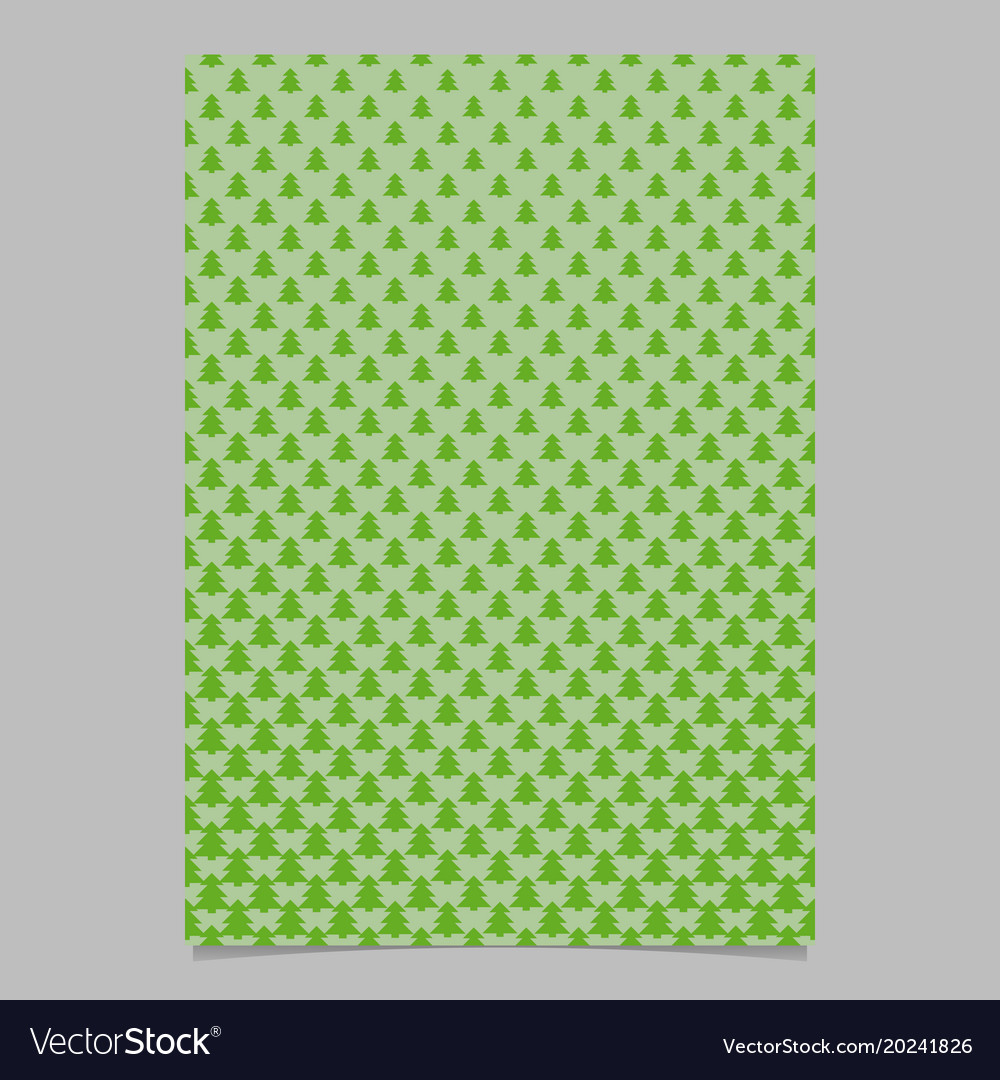 Pine tree pattern brochure backgeround design vector image