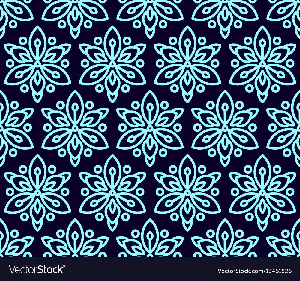 Seamless pattern with clematis vector image