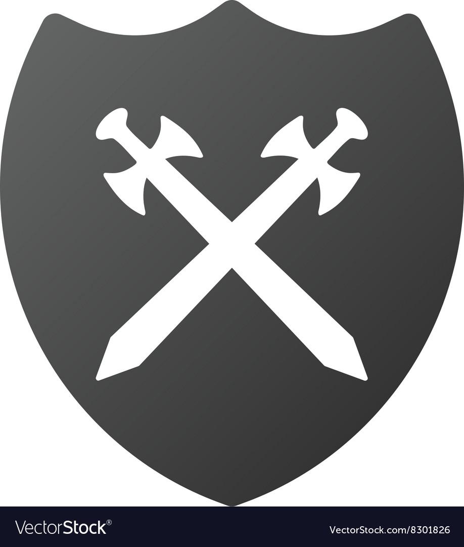 Security Shield Gradient Icon vector image