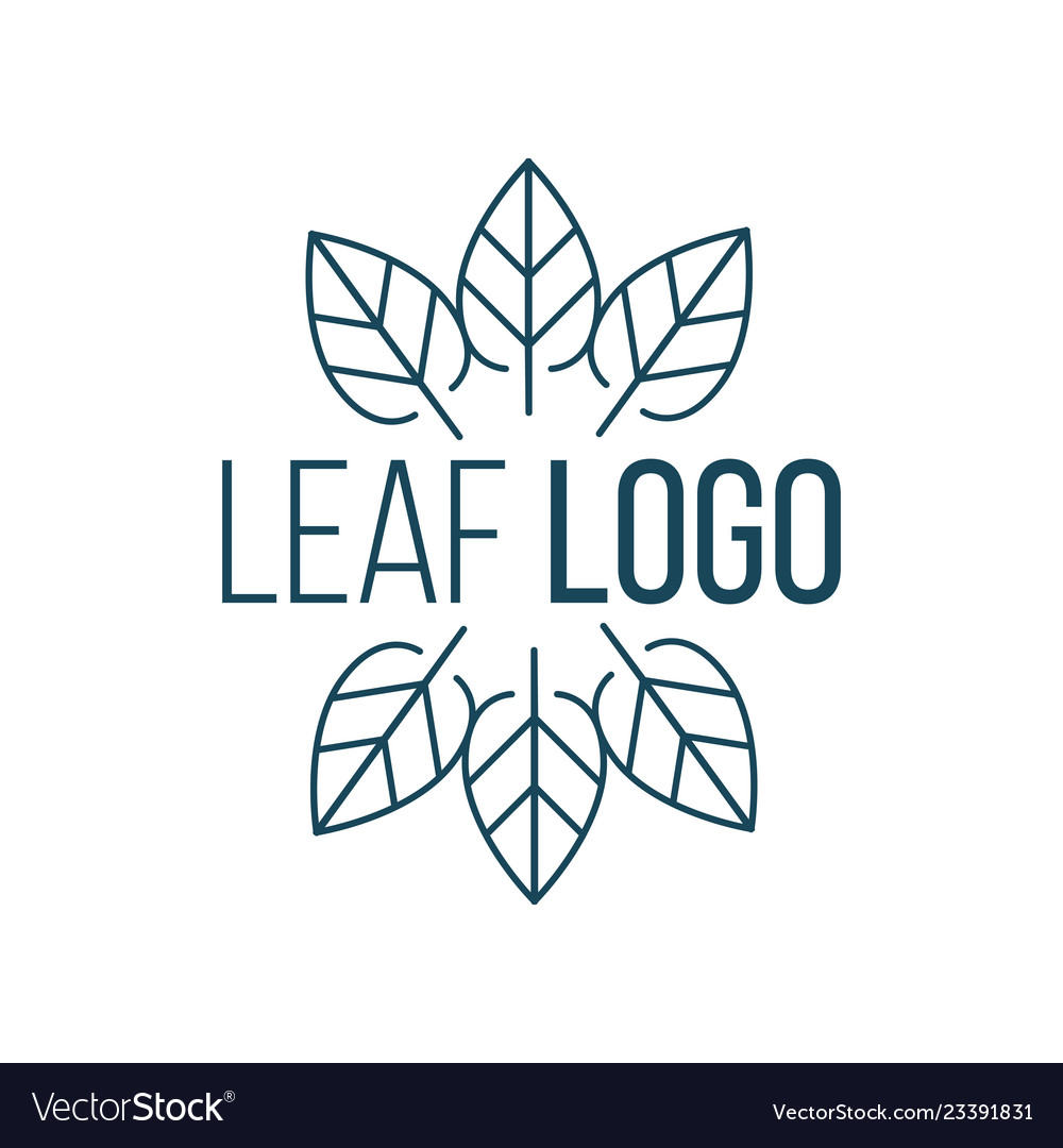 Abstract six leaves in circle logo icon design