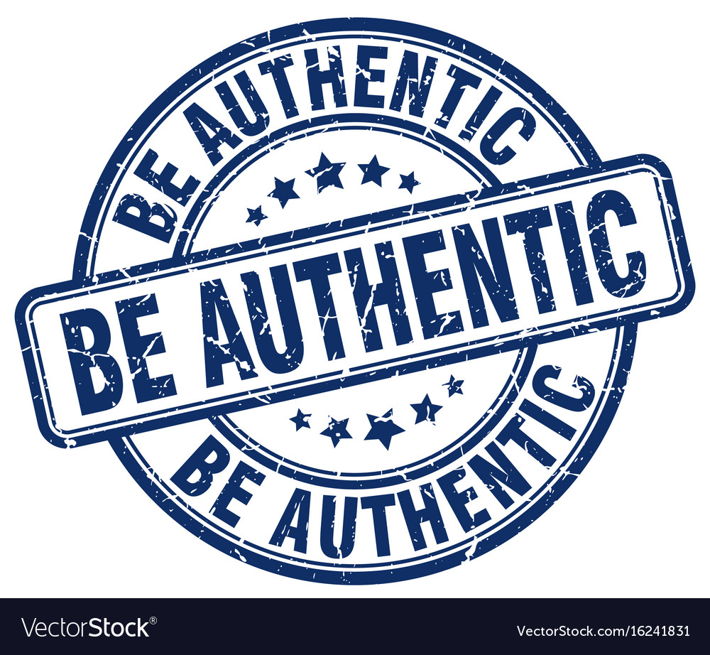 Be authentic blue grunge stamp vector image on VectorStock